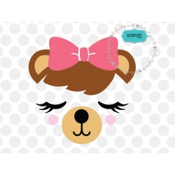 Bear face SVG, animal SVG