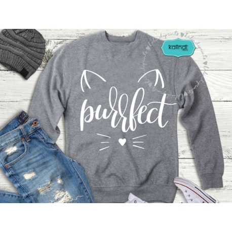 Purrfect svg, hand lettered, kitty svg, cat lover svg