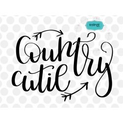 Country cutie SVG, hand-lettered SVG