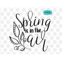 Spring is in the air SVG, easter SVG, hand-lettered SVG