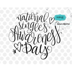 National singles awareness day SVG