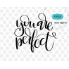 You are perfect svg, valentine SVG, hand lettering SVG, funny valentine SVG