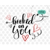 Hooked on you svg, valentine svg