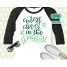 Cutest Clover in the patch svg, st patricks day svg