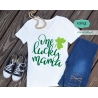 One lucky mama svg, st patricks day svg