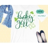 Lucky girl svg, st patricks day svg