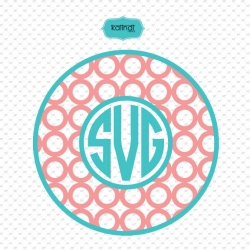 Circle monogram svg, circle monogram frame svg