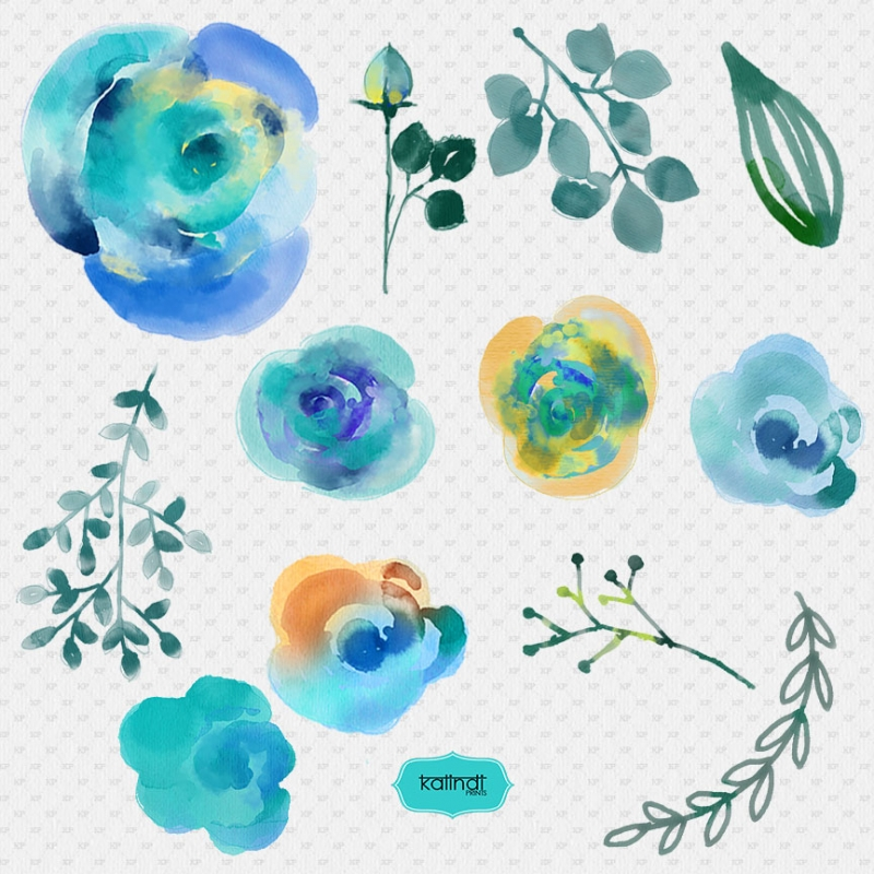 Watercolor flowers watercolor cliparts hand painted watercolor watercolor flowers watercolor cliparts hand painted watercolor floral wedding invitation diy elements stopboris Image collections