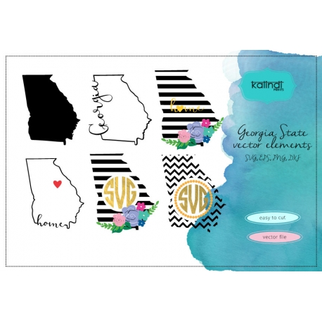 Georgia svg, Georgia vector file, Georgia SVG file, GA svg, Georgia state, Georgia state svg