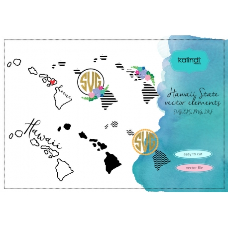 Hawaii svg, Hawaii vector file, Hawaii SVG file, HI svg, Hawaii state, Hawaii state svg