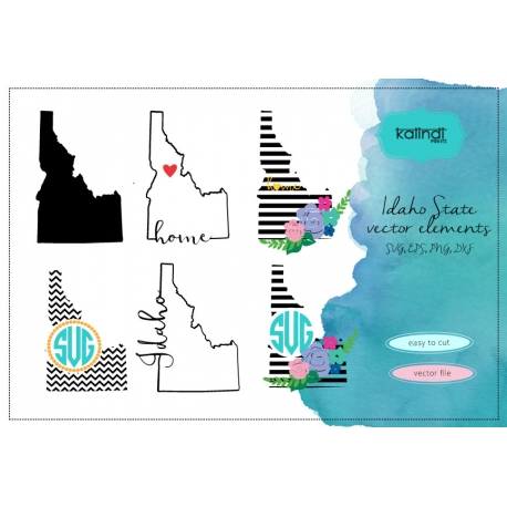 Idaho svg, Idaho  vector file, Idaho SVG file, ID svg, Idaho state, Idaho state svgvg