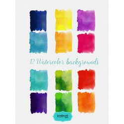Watercolor background, Watercolor cliparts, Watercolor splash, Wedding invitation, DIY elements, invite, greeting card