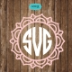 Flower Monogram frames SVG