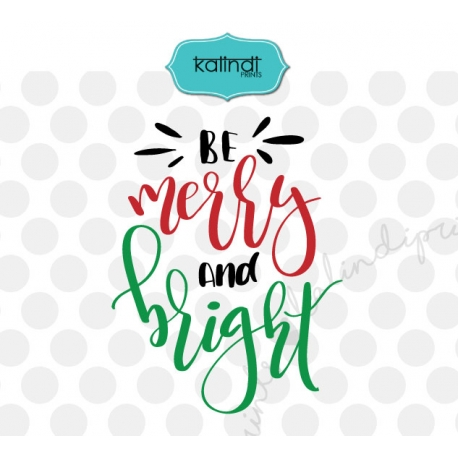 Be Merry And Bright Svg Hand Lettering Svg Christmas Tree Svg